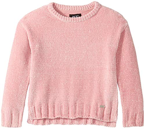 DKNY Girls High Low Chenille Sweater,