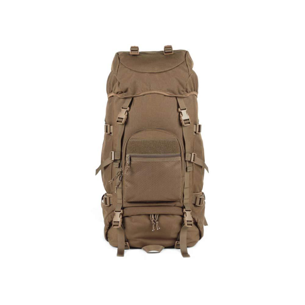 QP Backpack - Waterproof Hiking Backpack/Marching Bag/Unisex Travel Bag (Color : Brown)