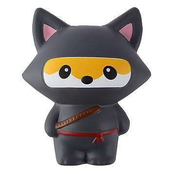 Amazon Com Anboor 5 3 Squishies Ninja Jumbo Fox Slow Rising
