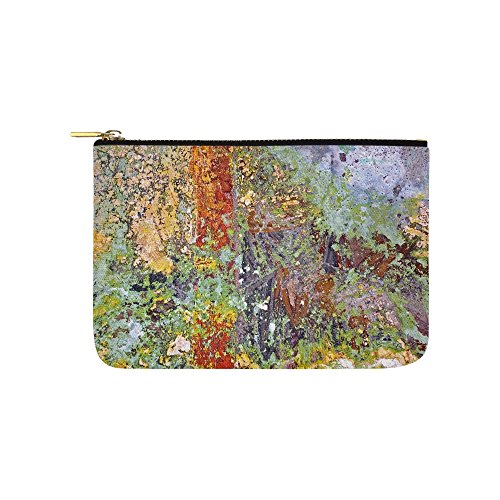 Church Painting Painting Painted Over Mural Unique Custom Carry-all Pouch With Zippered Cosmetic Cases Makeup Bag Travel Gear by VNASKL