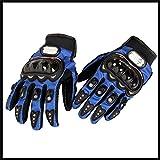 Motorcycle Accessories Pro-Biker Motocross Racing ATV UTV Outdoor Sport Finger Protective Carbon Fiber Gloves Blue Size M For YAMAHA XT225 4JG 5MP 1997-2004 YN50 2009 2010 2011