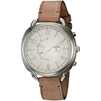 Fossil Q Accomplice Quartz Stainless Steel and Leather Women's Smart Watch