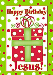 Custom Decor Flag - Happy Birthday Jesus