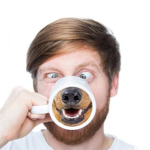 Funny Dog Nose Cup Ceramic Coffee Mug Creative Gift Mark Cups Drinking Porcelain Cups Milk Coffee Tea Cups Espresso Cups