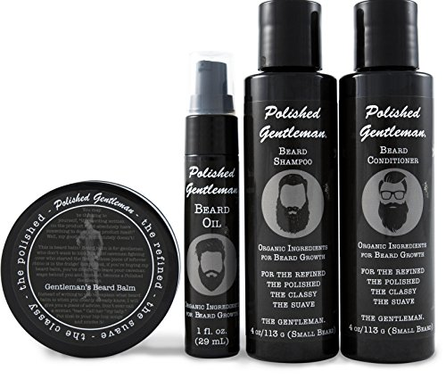 Complete All Natural Beard Grooming Kits For Men – With Beard Growth & Thickening Shampoo and Conditioner – Beard Balm Moisturizer – Beard Oil Spray For Rapid Beard Growth – Chemical Free – Made in US