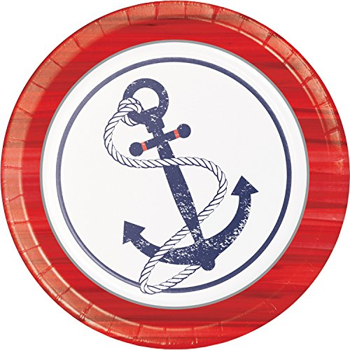 Anchors Away Paper Plates, 24 ct