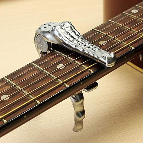 Guitare électrique acoustique Banjo ukulélé Bronze Crocodile Capodastre à changement rapide SILENCEBAN