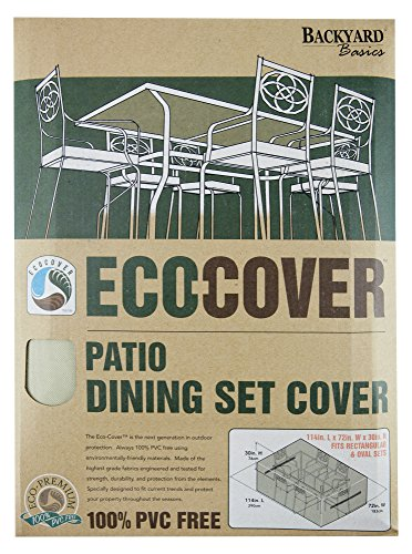 Mr. Bar-B-Q Backyard Basics Eco-Cover PVC Free Premium Patio Dining Set Cover