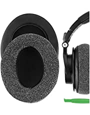 Geekria Comfort Linnen Vervanging Oorkussens voor Audio-Technica ATH-M50XBT ATH-M50X M40X M30X M20X M10X ATH-ANC9 Hoofdtelefoon Oordoppen, Headset Oorkussen Reparatie Onderdelen (Donkergrijs)