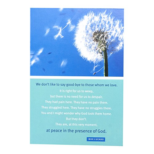 DaySpring Max Lucado Sympathy Greeting Cards w Embossed E...