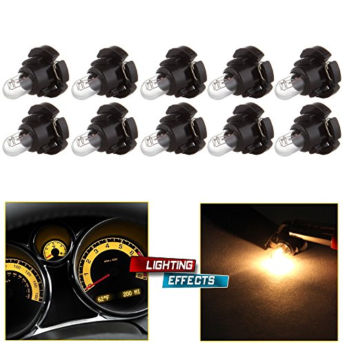 cciyu 10 Pack T5//T4.7 Neo Wedge Halogen Bulb Replacement fit for A//C Climate Control Light Ice Blue