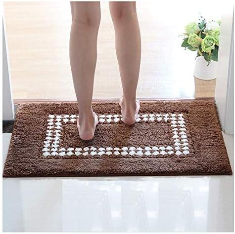 GHHQQZ バスルームのカーペット ノンスリップ 急速な吸水 耐摩耗性 超極細繊維 フットパッド 家庭 バスルームラグ 、4色、厚さ1.8 cm、6サイズ (Color : Brown, Size : 45x70cm)