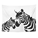 Breezat Tapestry Animal Zebra Mother and Child Africa Home Decor Wall Hanging for Living Room Bedroom Dorm 60x80 Inches
