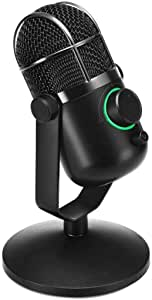MDRILL Dome Jet Black 48kHz USB Microphone