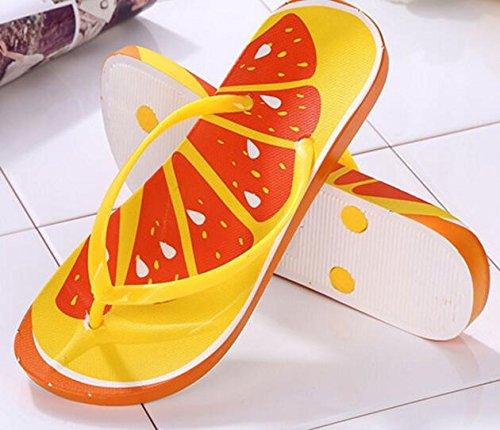 Fruta Zapatos Interior Para Femenino Sandalias Playa Verano Da de Estilo y Wa y de Chanclas 7vCRqI