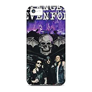 EricHowe Iphone 5c Bumper Hard Phone Covers Custom Stylish Avenged Sevenfold Image [GWQ20117whcA]