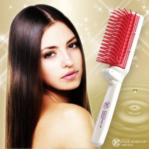 Hair Brush Lustrous Ceramide Macadamia Nut Oil Japan New Portable Beauty (Portable Hairdresser's lustrous hair (Nippon Nut)
