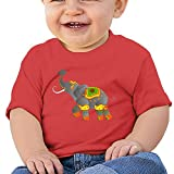 FHKSAFZ Unisex Decorative Indian Elephant Baby Tops T Shirt Fashion Kids Round Neck Cotton Baby Toddler Tops