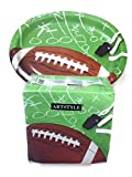 Artstyle Performa Football Oval Plates (35 ct) & Napkins (120) Game Plan Bundle