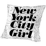 American Flat A89P426PILL1616 New York City Girl Pillow by Brett Wilson, 16'' x 16''