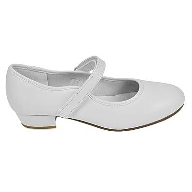 Starlite Backflip Weiß PU Klettverschluss Tap Schuhe 7 s lWuU9