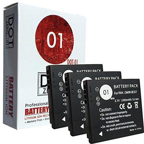 DOT-01 3X Brand 1200 mAh Replacement Panasonic DMW-BCK7 Batteries Panasonic DMC-TS30 Digital Camera Panasonic BCK7