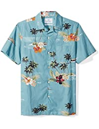 Men's Standard-Fit 100% Cotton Hawaiian Shirt