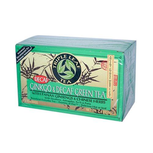 Triple Leaf Tea Ginkgo and Green Tea Decaffeinated - 20 Tea
