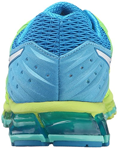 ASICS Women's Gel-Quantum 180 2 running Shoe, Safety Yellow/White/Blue Jewel, 8.5 M US by ASICS (Image #2)