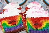 Gourmet Kosher Rainbow Cupcakes