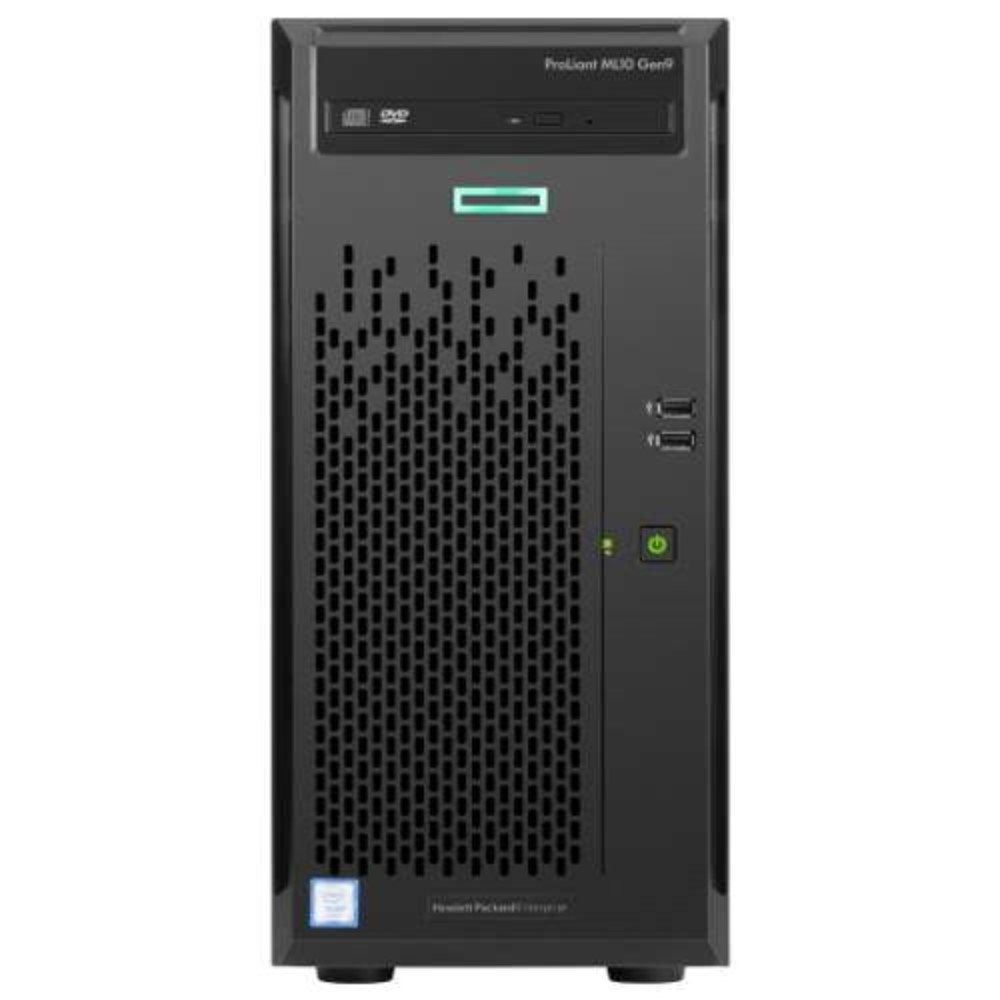 HP ProLiant ML10 Gen9 Tower Server 866965-S01 (Intel i3-6100 Dual-Core 3.7GHz Processor, 4GB DDR4 Memory, DVD-RW, No OS, Gigabit Ethernet, USB 3.0 by HP