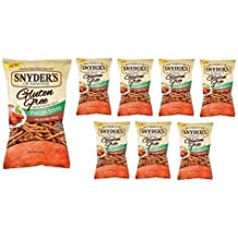 Snyder's of Hanover Gluten Free All Natural Pretzel Hot Buffalo Wing Sticks 8oz [8 Pack] by Snyder's of Hanover
