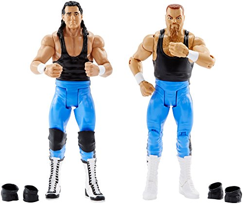 WWE Bret Hart and Jim Neidhart Action Series 47 Figure, 2 Pack by WWE