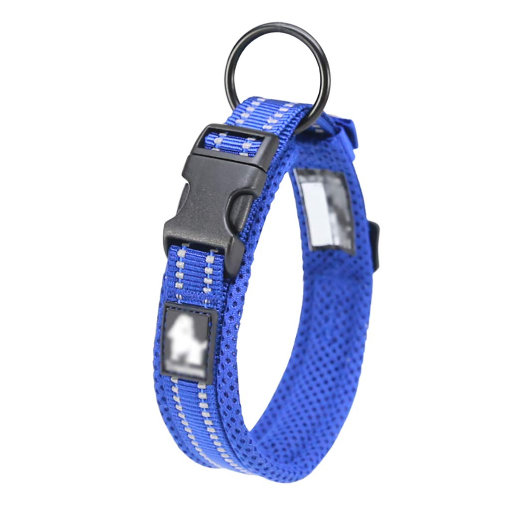 Pet Supplies Collars Walking the dog Small dog Medium dog Large dog Reflective strip Soft comfortable Convenient safe (color   D, Size   XL 50-55  2.5CM)