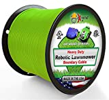 Robotic Lawnmower Wire 14 Gauge (Extra Thick Jacket) 1000 Ft - Heavy Duty Pure Solid Copper Core Automatic Mower Boundary Wire - Compatible with All Robotic Lawnmowers and Electric Dog Fences