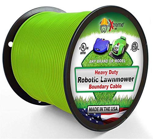 Robotic Lawnmower Wire 14 Gauge (Extra Thick Jacket) 1000 Ft – Heavy Duty Pure Solid Copper Core Automatic Mower Boundary Wire – Compatible with All Robotic Lawnmowers and Electric Dog Fences