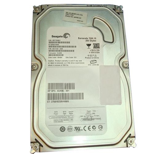 250gb 7200rpm Sata2 Hard Drive (452696-001 Hewlett-Packard 250Gb 7200Rpm Sata-2 Hard)