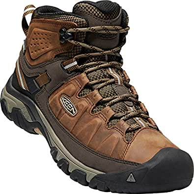 KEEN Mens Targhee III Mid Waterproof Big Ben Golden Brown Leather Boots 40.5 EU