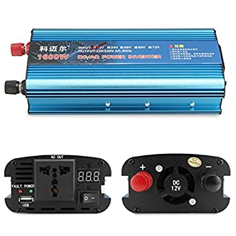 RanDal Dc 12V A Ac 220V 1600W Lcd Digital Solar Inversor ...