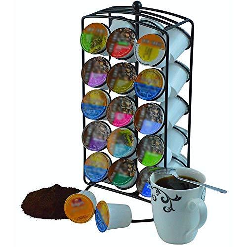 Casavidas 1 UNID Black Coffee Pod Holder 360 Grados Rack Stand Cápsula Organizador de Almacenamiento Para 30 unids...