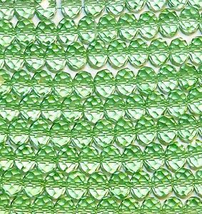 Steven_store CR817 Peridot Green 12mm Faceted Rondelle Crystal Glass Beads 12