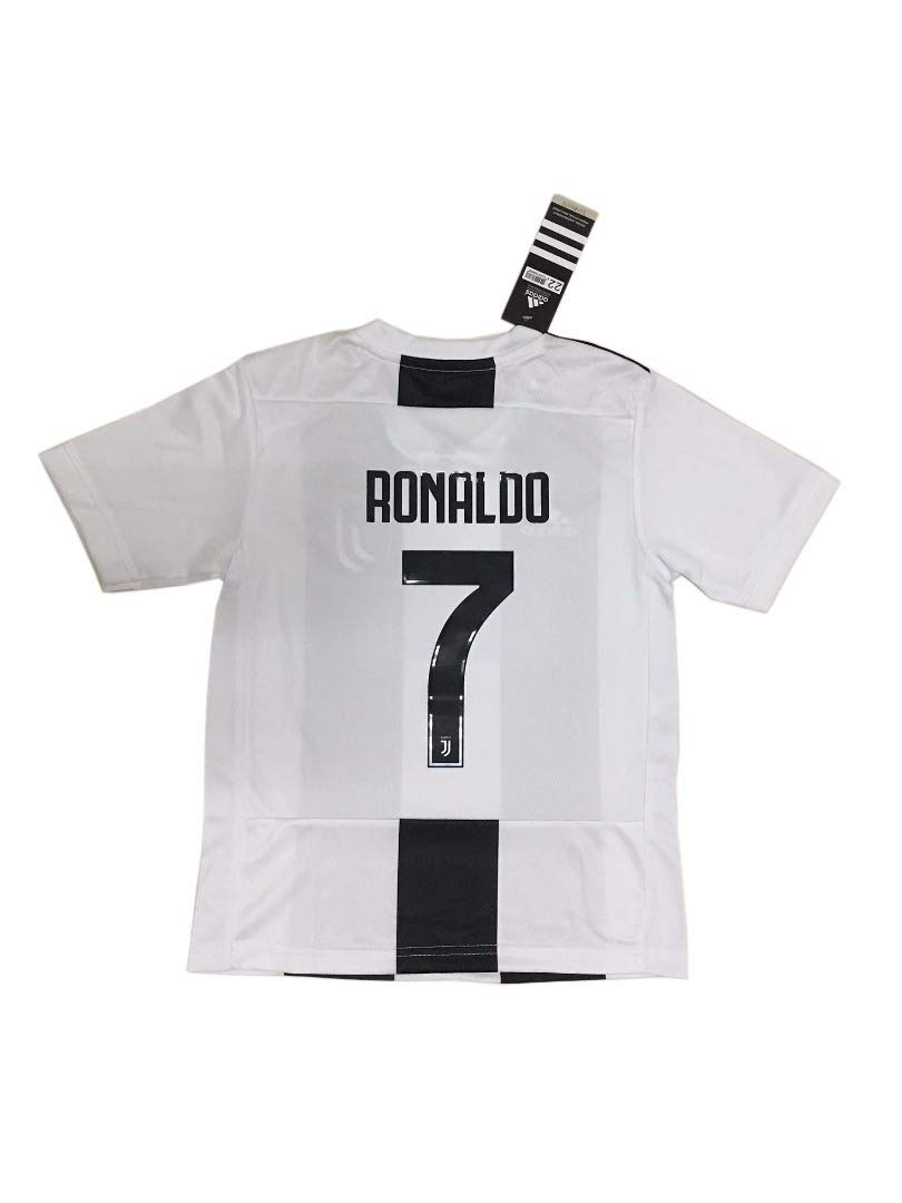 2c1077816 Juventus 2018-19 7 Cristiano Ronaldo Home Youths Football Soccer Kids Jersey    Short  Amazon.co.uk  Sports   Outdoors
