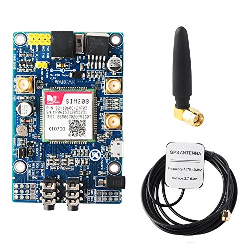 SIM808 Module GSM GPRS GPS Development Board + IPX SMA GSM GPS Antenna Support 2G Network for Arduino Raspberry Pi Geekstory
