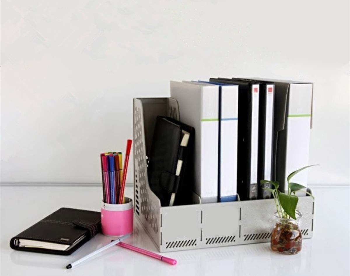 sturdy Desk file organizer 4/scomparti Magazine rack cornici di plastica cancelleria organizzatore divisori e documento file visualizzazione e organizzatore box Storage Nero