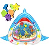 "MeiGuiSha Tummy Time Baby Water Mat Large Size 34""X30"" Infant Toy Inflatable Play Mat for 3 6 9 Months Newborn Baby Toys Boy Girl"
