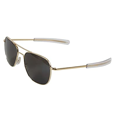 Amazon.com  American Optics Gold GI 52mm Air Force Pilots Sunglasses ... a451c381a49