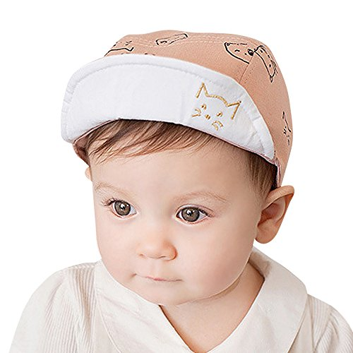Naiflowers Stylish Cute Infant Baby Kids Comfortable Bongrace Hat Peak Cap Cat Kitten Cartoon (Pink)