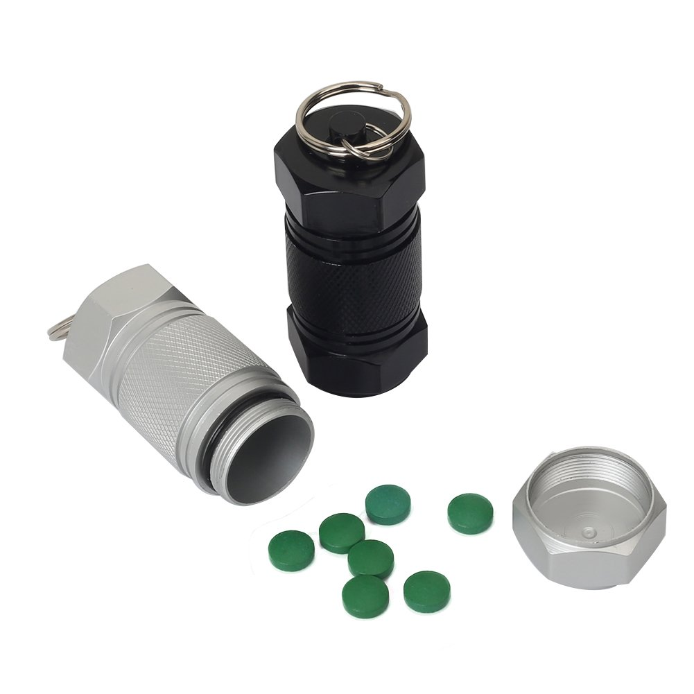 Shintop 2PCS High Capacity Aluminum Container Keychain Waterproof Pill Container by Shintop (Image #4)