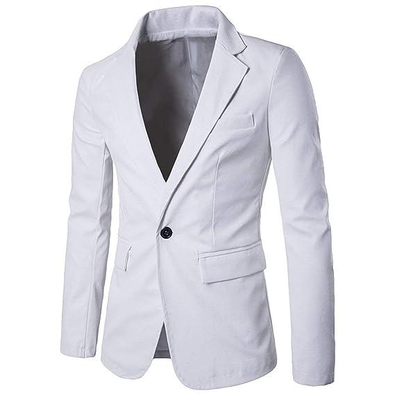 30a48d1f5f5c4 Giacche Eleganti da Uomo in Pelle Blazer Giacche da Uomo Classiche Slim Fit  Giacca da Uomo di Moda Maschile 1 Bottone Risvolto Manica Lunga Ragazzi  ...