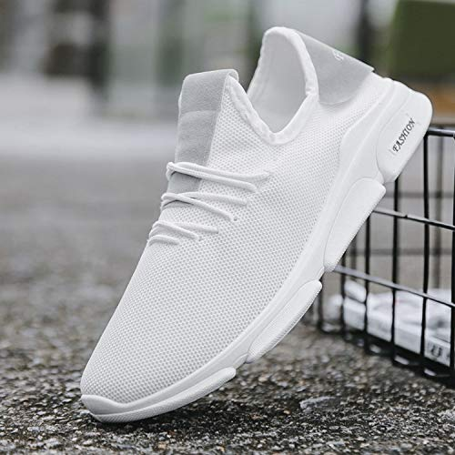 Chaussures Mode Nouveau Men's Running AIMENGA Chaussures Sports Respirant Vent Mode Automne White Hommes De Mesh Casual Chaussures New Hommes Sauvage t75wU